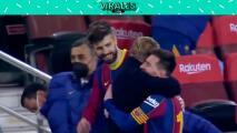 Messi celebra el pase a la Final con abrazo emotivo a Piqué y Koeman