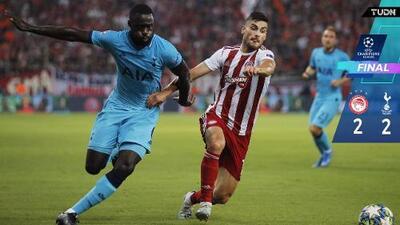Olympiacos remontó y rescató el empate ante Tottenham