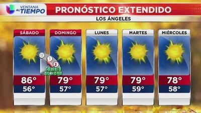 A Los Ángeles le espera una mañana de sábado soleada y con bajos niveles de humedad