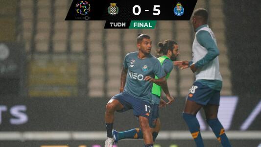 ¡Golazo de Tecatito! El mexicano encaminó goleada del Porto