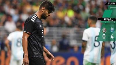¡Sin piedad! Argentina golea a México en amistoso