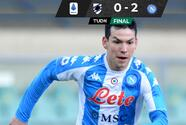 Napoli gana y 'Chucky' Lozano se perderá el juego ante Inter