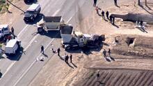 Imágenes aéreas del accidente en la frontera entre California y México en el que murieron 15 personas