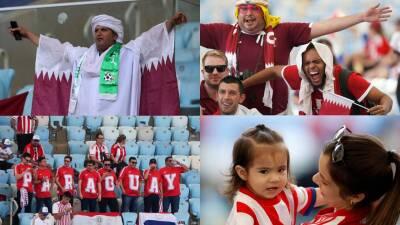 Fanáticos de todas las edades disfrutan del juego entre Paraguay y Catar
