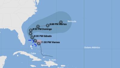 En vivo: Trayectoria actualizada de la tormenta tropical Humberto