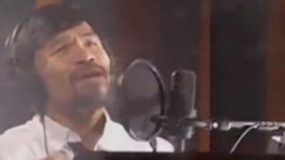 Pacquiao records Mayweather Fight Song