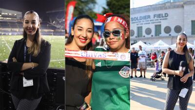 📸Así vivió Mafer Alonso la emoción de la final de la Copa Oro desde Chicago