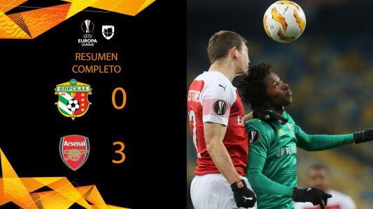 Vorskla 0-3 Arsenal - GOLES Y RESUMEN - Grupo E - UEFA Europa League