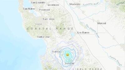 USGS reporta nuevo sismo de magnitud 3.6 esta mañana con epicentro al sur del Área de la Bahía