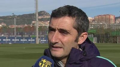 Ernesto Valverde cree que el Barcelona no se puede confíar en la serie frente al Lyon
