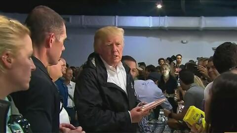 El presidente Trump insiste en que han realizado un magnífico trabajo en Puerto Rico