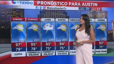 Fin de semana con temperaturas cálidas y posibilidades de lluvia en Austin