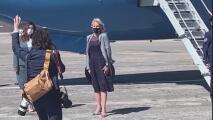 Jill Biden visita secundaria y centro de vacunación  durante su viaje a Salt Lake City