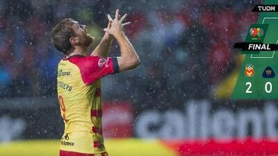 ¡Cantó el canario! Monarcas venció a Pumas con doblete de Aristeguieta