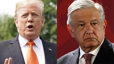 Trump reafirma que si México no detiene a los migrantes cerrará la frontera y AMLO asegura que no se dejará provocar