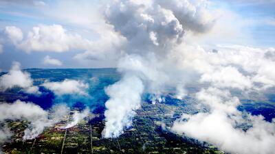 En fotos: estas son las fisuras del volcán Kilauea que han provocado evacuaciones en Hawaii