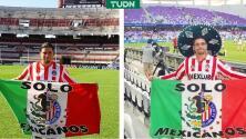 Chivas saca a aficionado del estadio por festejar... ¡con una bandera!