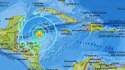 Un sismo de magnitud 7.6 afecta el Caribe frente a las costas de Honduras
