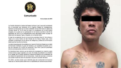 Otro presunto responsable tras violencia previa al Clásico regio es detenido