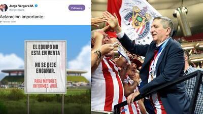 Jorge Vergara confirma que Chivas no está en venta