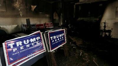 Atacan con bomba molotov a oficina del Partido Republicano en Carolina del Norte