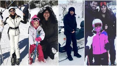 Lili, Ana Patricia, Yandel y William Levy desafiaron el frío para irse a disfrutar de la nieve