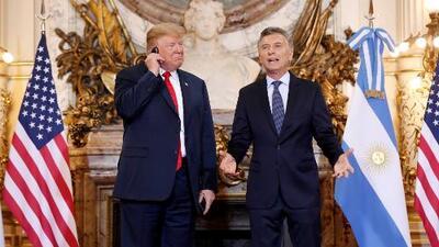 El momento en que Trump muestra su fastidio por la traducción del mensaje de bienvenida del presidente Macri