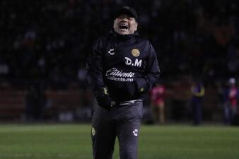 En fotos: Dorados salió de su crisis y Diego Maradona vuelve a celebrar