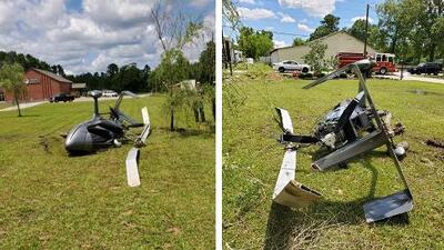 Se estrella un helicóptero al noreste de Houston y el piloto sobrevive