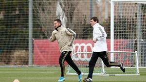 Eden Hazard regresó a los entrenamientos con el Rea Madrid
