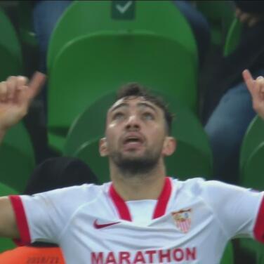 ¡Agónico, sobre el 95'! Munir El Haddadi anota el 1-2 del Sevilla