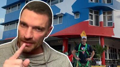 Julián Gil en problemas por el mural de la bandera puertorriqueña que adorna su nuevo restaurante en Miami