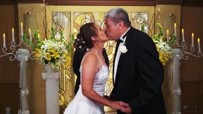 Tras 37 años de casados esta pareja renovó sus votos matrimoniales