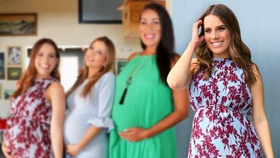 Las enternecedoras fotos de Andrea Chediak disfrutando (muy bien acompañada) del milagro de la maternidad