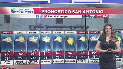 Calor y lluvias ligeras para este domingo en San Antonio