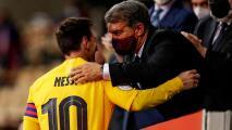 "Laporta asegura que ""las botas de Messi seguirán en Camp Nou"""