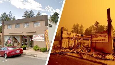 Fotografías interactivas: antes y después del devastador incendio que consumió Paradise, California