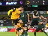 El Wolverhampton no gana sin Raúl Jiménez y empata 1-1 en casa ante el Tottenham