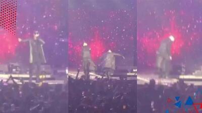 Wisin se cae del escenario en pleno concierto y termina en el hospital