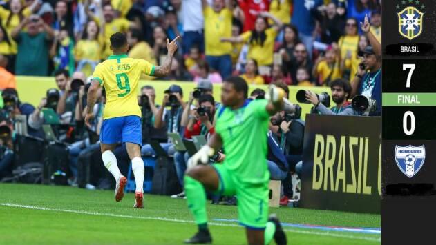 Siete goles de Brasil a Honduras... y pudieron haber sido más
