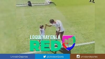 Por el saludo se nota que es su ídolo: Esto hace el hijo de Pjanic apenas ve a Cristiano Ronaldo