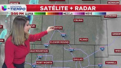 Un frente frío se desplazó por el norte de Texas