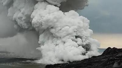 En video: enorme erupción del volcán Kilauea para despedir el 2016