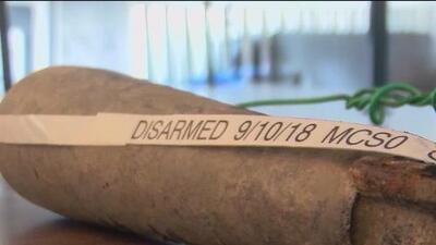 Encuentran una bomba de la Segunda Guerra Mundial enterrada en una parque para perros