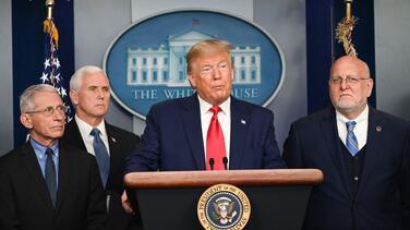 Trump dice que todo está bajo control con el coronavirus ¿Es cierto?