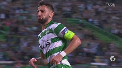 ¡El estadio del Sporting es la locura! Bruno Fernandes firma la voltereta ante el LASK