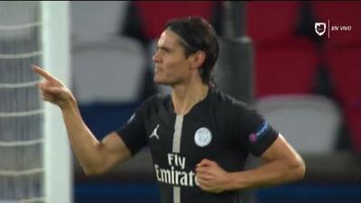 ¡GOOOL! Edinson Cavani anota para Paris Saint-Germain