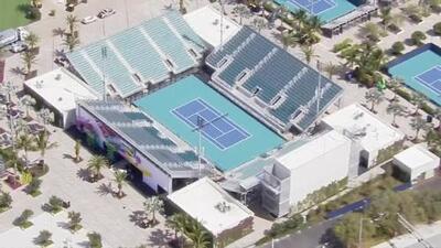 Así se ve desde el aire la nueva sede del torneo de tenis 'Miami Open'