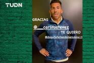 Tévez dedica emotivo mensaje al hijo pequeño de Maradona
