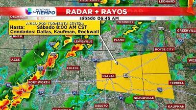 Aviso de tormentas severas para algunos condados